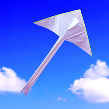 Free shipping high quality large 2m diy kite 20pcs/lot children white kite flying wholesale nylon ripstop fabric diamond kites