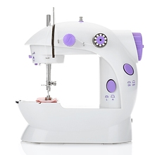 Mini Electric Handheld Sewing Machine Dual Speed Adjustment with Light Foot AC100-240V Double Threads Pendal Sewing Machine(China)