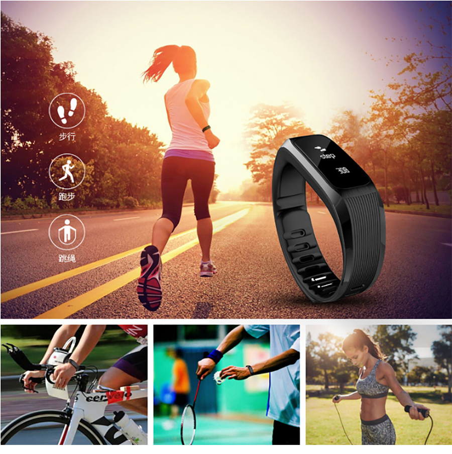 AIPAL Fitness Tracker Bluetooth Sleep Monitor Smart Bracelet Heartrate Monitor Sport  Band Fit Bit mi band 2 For Android & IOS