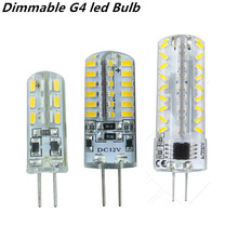 2015 new dimmable G4 led Bulb Lamp High Power SMD3014 3W 5W 6W 12V 220V Replace 10W 30W halogen lamp 360Beam Angle LED lamp(China)
