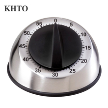 KHTO Stainless Steel Dome Shape Kitchen Timer 60-Minutes Countdown Mechanical Wind Up Alarm Clock Home Kitchen Cooking Tools(China)