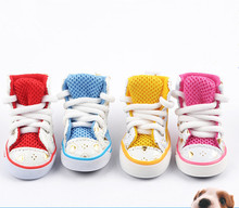 2015 hot sale Four color puppy summer shoes breathable shoe lace Puppy Dog shoes sports shoes sneakers non slip
