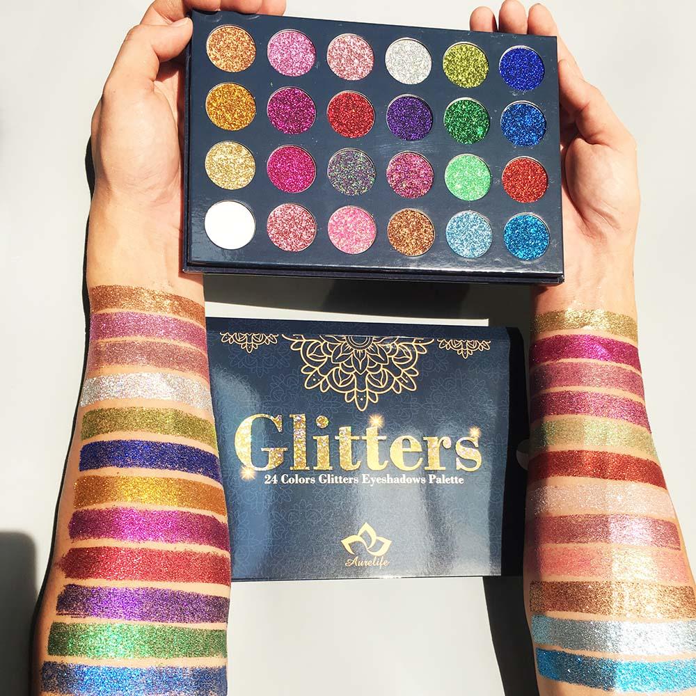 Aurelife-24-Color-Glitter-Eye-Shadow-Bright-Rainbow-EyeShadows-Cosmetic-Make-up-Pressed-Glitters-Diamond-Rainbow