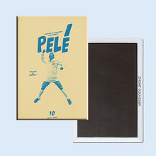 Vintage Retro Poster,The King of Football Brazil Soccer Pele Memorabilia Fridge Magnets 22365 Gift for friends(Hong Kong)