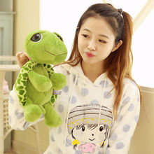 Funny Big Eyes Green Tortoise Animal Baby Stuffed Plush Toy Gift Cute Soft