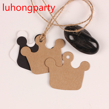 100pcs 5.5cm*6cm homemade crown design Craft paper tags bookmark mood message card DIY scrapbooking accessories