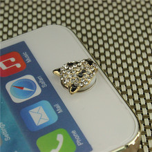 2017 Hot sale For iphone home sticker Leopard design Mobile phone button sticker(China)