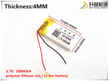 1pcs [SD] 3.7V,380mAH,[402040] Polymer lithium ion / Li-ion battery for TOY,POWER BANK,GPS,mp3,mp4,cell phone,speaker