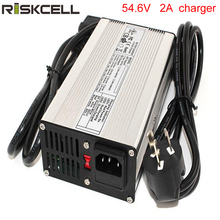 54.6V 2A 13S Lithium Battery Charger For E-scooter Bike Hoover Board 48V Car Battery Pack(China)