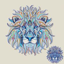 2017 NEW patch for clothing folk-custom lion T-shirt Dresses Sweater thermal transfer Printed A-level Washable Sticker