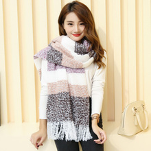 2017 new style high quality famous brand 200*60cm big thickness ZA women mohair square lattice grid soft scarf winter for female