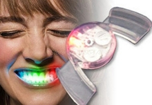 576pcs/ lot 1*6.5*3.5cm LED Mouth Guard flashing mouth piece mouth light for halloween Christmas party