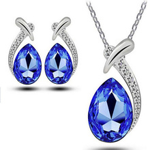 New Fashion Brand Rhinestone Crystal Costume Bridal Wedding Jewelry Sets For Women Romantic