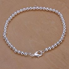 Free shipping 925 jewelry silver plated jewelry bracelet fine fashion bead bracelet wholesale and retail SMTH198(China)