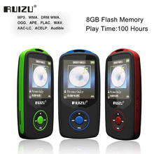 Ruizu X06 Lossless Flac Portable Hifi Digital Sport Audio Screen Mp 3 Music Mp3 Player Bluetooth With Headphone 8GB Radio FM TF