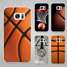 Basketball dark Hard White Coque Shell Case Cover Phone Cases for Samsung Galaxy S4 S5 S6 S7 Edge Plus
