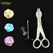 Delidge 1 Set Cake Decoration Set 1 Cake Flower Stand Nail 2 Cake Icing Piping Nozzle 1 Cake Scissors For Cream Flower Transfer