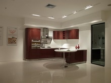 High gloss/lacquer kitchen cabinet mordern(LH-LA054)(China)