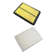 2Pcs OEM Quality Car Engine Air Filter OE 16546-4BA1B 16546-4BA1A + Car Cabin Air Filter 27277-4BU0A For Nissan Rogue 2014-2016(China)