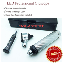 New LED Otoscope Light Direct Portable Medical Diagnostic Otoscope Kit with Excellent Textured Finish Handle