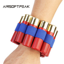 Airsoft Tactical 8 Shell Round Ammo Holder Shotgun Rifle Gun Wristband Hunting Bullet Carrier Wrist Strap Paintball Accessory
