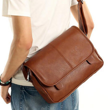 High Quality PU Leather Men Messenger Bags Fashion Trend School Casual Single Shoulder Satchel Male Cross Body Bag For Traveling(China)