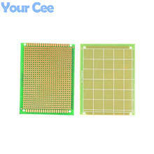 2pcs 7X9cm FR4 Single Side PCB Prototype Universal Experiment Printed Circuit Board Epoxy Glass Fiber FR-4 Green 7*9cm(China)