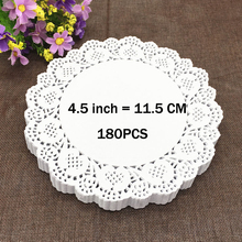 "180PCS 4.5"" White Round Lace Paper Doilies / Doyleys,Vintage Coasters / Placemat Craft Wedding Christmas Table Decoration"
