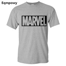 2017 New Brand Marvel t Shirt men tops tees Top quality cotton short sleeves Casual men t-shirt marvel t shirts men clothing