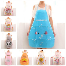 Cute Apron Bib avental Cartoon Waterproof Aprons Gowns Suits For Men And Women kitchen tools delantal cocina