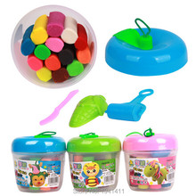 14colors/set Colorful Silly Putty Plasticine Kid Children For Fimo Polymer Clay Educational Soft Play Dough Toy Craft DIY(China)