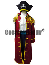 One Piece Cosplay Gol D Roger Pirate Uniform Costume