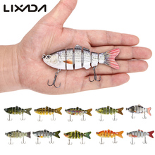 Lixada 10cm 20g Fishing Wobblers 6 Segments Swimbait Crankbait Fishing Lure Bait with Artificial Hooks(China)
