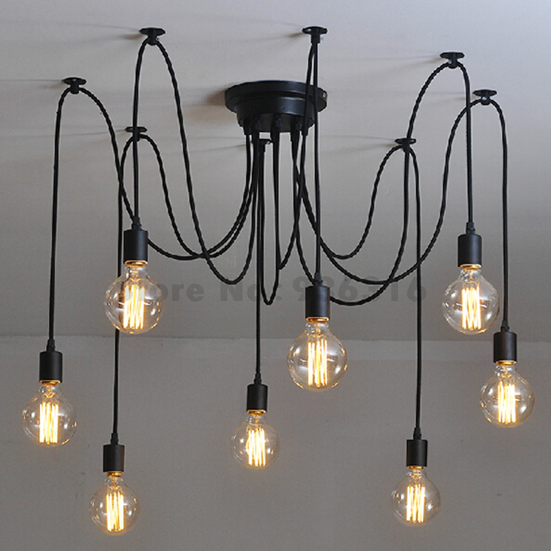 Vintage Nordic Spider Pendant Lamp Multiple Adjustable Retro Pendant Lights Loft Classic Decorative Fixture Lighting Led Home<br>