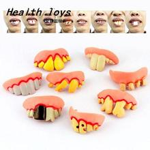 Gags Practical Funny Gags Practical Jokes Prank Freak False Teeth Set Halloween April Fool's Day Gift Wacky Action Toy Figures(China)