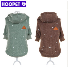HOOPET Pet Dog Cat Clothes Personality Ink Printing Skin-friendly Comfortable Casual Hooded Fleece Bulldog(China)