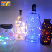 0.75-2m LED Copper Wire String Christmas Party lamp with Bottle Stopper for Glass Craft Bottle Fairy Valentines Wedding Light(China)