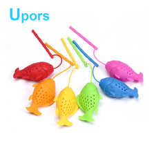 Upors 1pcs Creative Silicone Tea Infuser Food Grade Tea Bag Filter Accessories Reusable Fish Tea Strainers 6 Colors(China)
