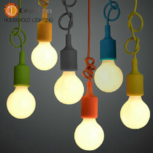 Colorful Pendant Lamp Modern Vintage Bar Restaurant Bedrooms Hanging Lamp Large Shopping Mall Muuto E27 Art Pendant Light(DO-57)