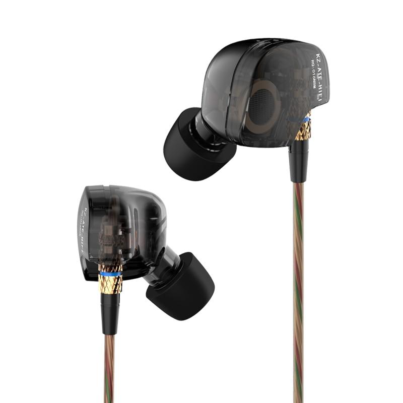 Earphone 2017 New Arrival Original KZ ATE 3.5mm in ear Earphones HIFI Metal auriculares Earphones Super Bass fone de ouvido<br><br>Aliexpress