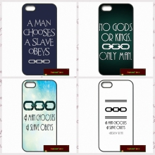 man chooses a slave obeys Cover case for iphone 4 4s 5 5s 5c 6 6s plus samsung galaxy S3 S4 mini S5 S6 Note 2 3 4  F0343