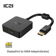 ICZI DisplayPort 1.2 to HDMI 2.0a Active Adapter 4K @60Hz Male to Female Converter for Macbook Chromebook Pixel Surface HDTVs