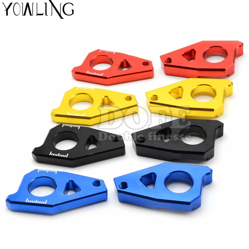 1 pair Motorcycle Chain Adjuster chain adjuster tensioner for Yamaha TMAX 530 FZ8 2012-2015 FZ1 2006-2015 YZF R1 2005-2015
