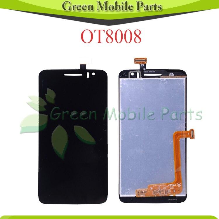 For Alcatel OT8008 OT-8008A 8008W 8008D 8008X 8008 LCD Display Screen Assembly<br><br>Aliexpress