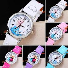 1pc new fashion  ice snow country children kids pupil wrist watch clocks hour cartoons students Quartz Wristwatches gift h2