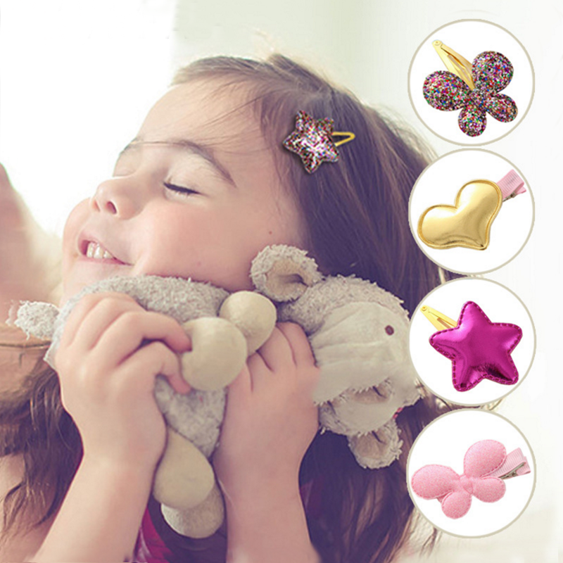 10 Pcs New Lovely Style Shiny Star Baby Girls Heart Butterfly Cute BB Hairpins Kids Barrettes Hair Clip Headwear Hair Accessorie<br><br>Aliexpress