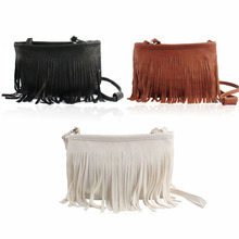 Onfine Leo 2015 Coming Hot Tassel Cross Body Shoulder Messenger Bags Clutch Baguette Women Satchel xiniu(China)