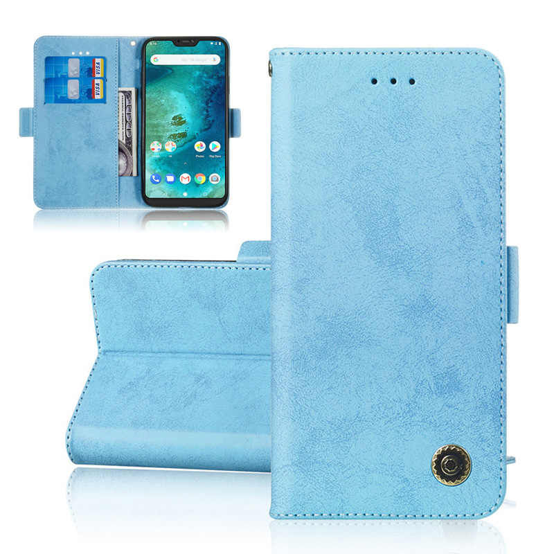 Book Flip PU Leather Wallet Case For Xiaomi Pocophone F1 Mi A2 Lite Redmi 5 Plus S2 6A Redmi Note 5 6 Pro Phone Case Fundas Capa