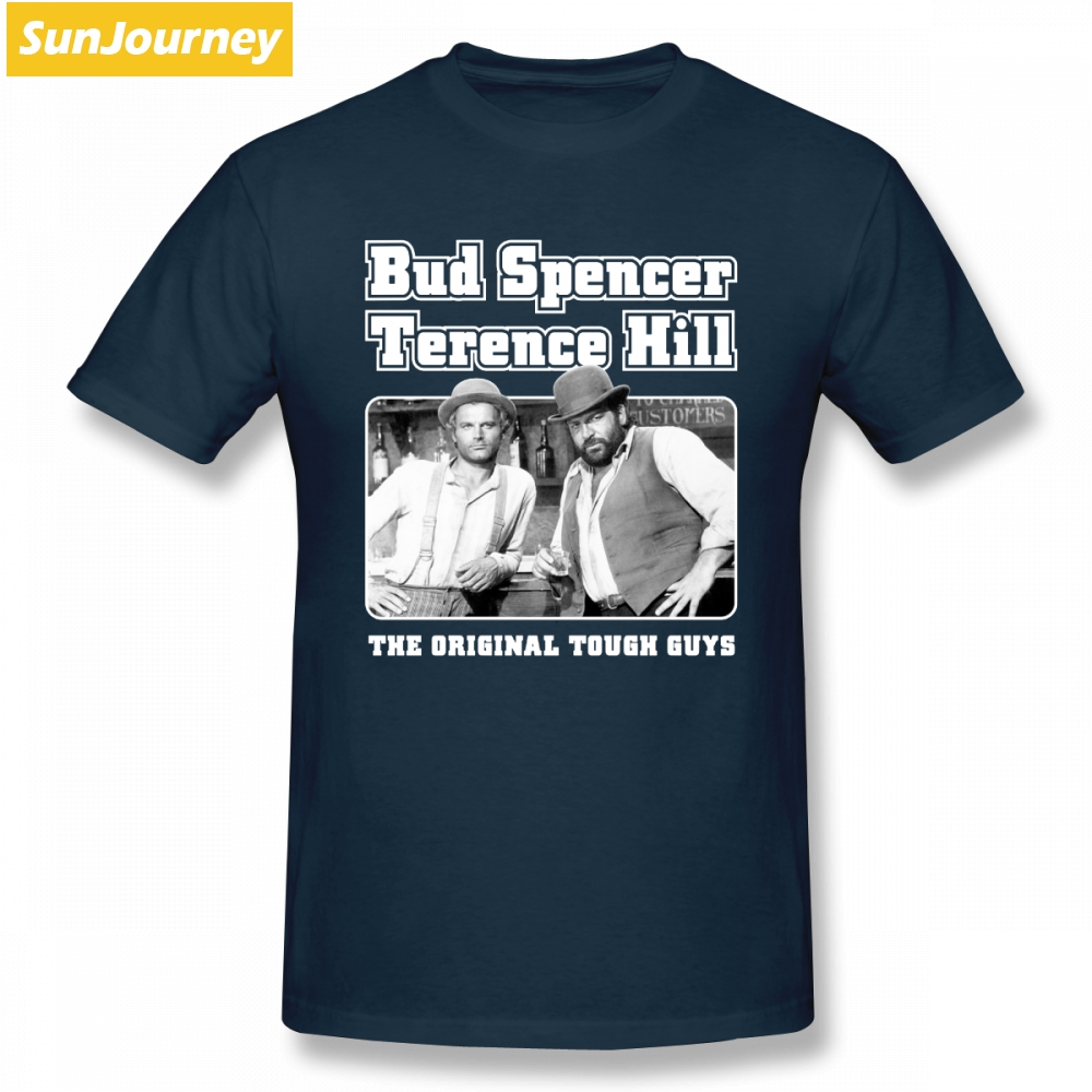 Pop Bud Spencer And Terence Hill T Shirt Camiseta Tshirt Men O-neck Cotton Plus Size Short Sleeve Custom T Shirts For Boys Хил