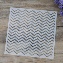 DIY Craft Chevron Layering Stencils For Walls Painting Scrapbooking Stamping Stamps Album Decorative Embossing Paper Cards